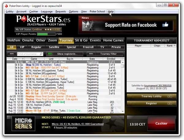 Покерный клиент PokerStars